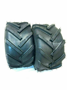 TWO 20X10.00-8 4PLY LAWN MOWER TRACTOR LUG TIRES