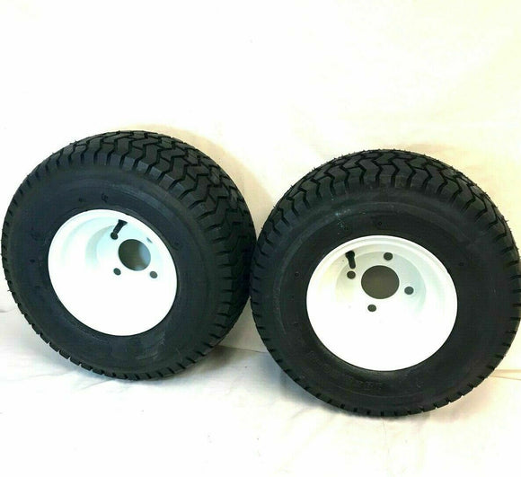 TWO (2) - 18x8.50-8 Wheel+Tires Lawn Tractor Golf Cart 4 Lug 18 8.50 8 18 850 8