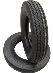 2 (TWO) 530-12 5.30-12 8 PLY RATED LOAD D T Hiway Speed Trailer Service Tires (530128)