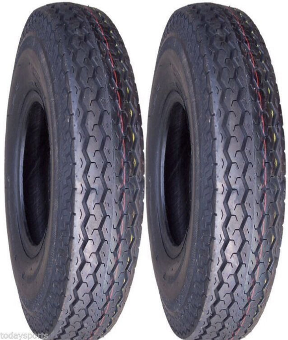 (2) TWO- NEW 480-12 Boat Trailer 6PLY TRAILER TIRES Highway Tubeless Tire