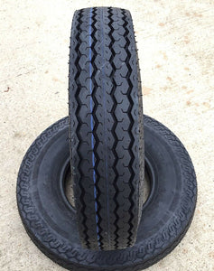 (2) TWO- NEW  ST185/80D13 6PLY DEESTONE HEAVY DUTY TRAILER TIRES