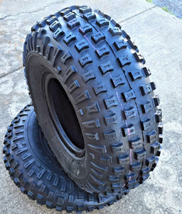 (2) TWO- NEW 16/8.00-7 DEESTONE D929 Knobby ATV  4PLY TIRES