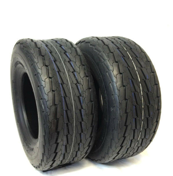 (2) TWO- NEW 16.5x6.50-8 DEESTONE LRC 6PR BOAT TRAILER TIRES