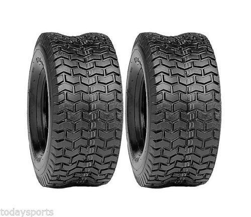 Two 16/750-8 16x7.50-8 Deestone Turf Tires D265 4ply 167508 Mower Tires 16 750 8