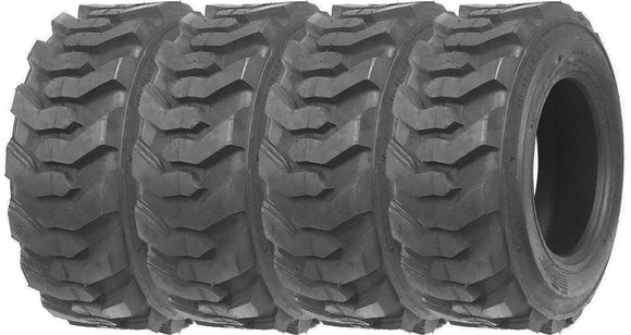 (4) FOUR- NEW 10X16.5 SKID STEER BOBCAT LOADER TIRES