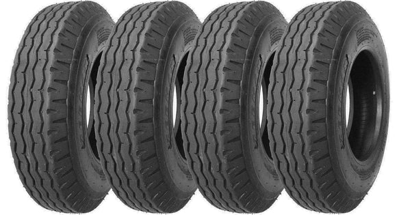 (4) FOUR - NEW 8-14.5 14PLY RATED HEAVY DUTY TRAILER TIRES