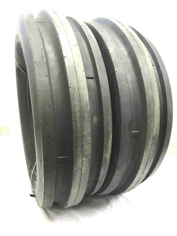 (2) TWO- NEW 9.5L-15 TRI RIB 8PLY Tubeless Heavy Duty TRACTOR TIRES