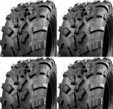 Set 4 ATV TIRES: 25x8-12 25x10-12  A/T ATV Tires Heavy Duty Tubeless