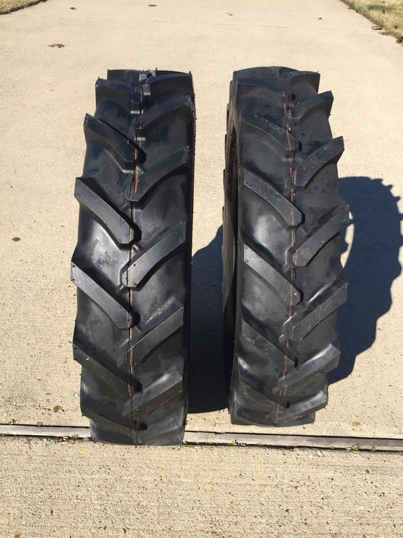 TWO 7-16 7x16 Compact Tractor Farm Tires Heavy Duty AG  R-1 SuperLug 6 Ply