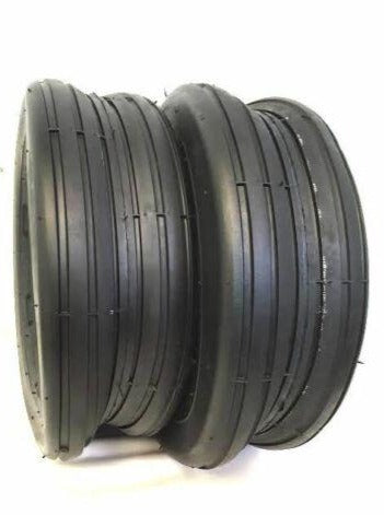 Two New 18x8.50-8 4 Ply Deestone Rib Lawn Mower Tires 18x8.50x8 DS7226