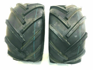 (2) 24x12.00-12 Lawn Mower Bar Lug Tires 6 PR Heavy Duty R1 24X12-12 LUG