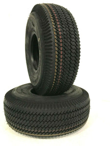 TWO-3.40/3.00-5 3.40-5 3.00-5 300-5  Sawtooth Tires Heavy Duty 4Ply