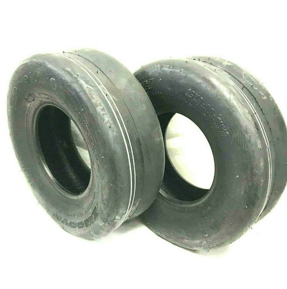 Two 15X6.00-6 8 Ply Smooth Tread Lawn Mower Tires 15x600-6 15x600x6