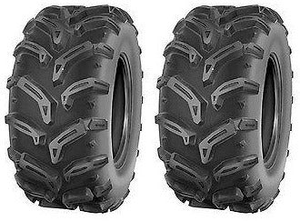 (2) TWO- NEW  25/8-12 DEESTONE 6PLY ATV SWAMP WITCH TIRES