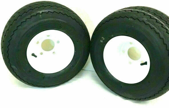 TWO- 18x8.50-8 Golf Tires 5 LUG Wheels Golf Cart Carts Taylor Dunn EzGo Cushman