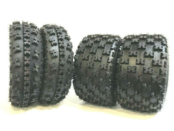 Set of 4- Fits HONDA TRX 300EX K9 CL3 ATV Tires 6 ply 22X7-10 20X10-9 1993-2009