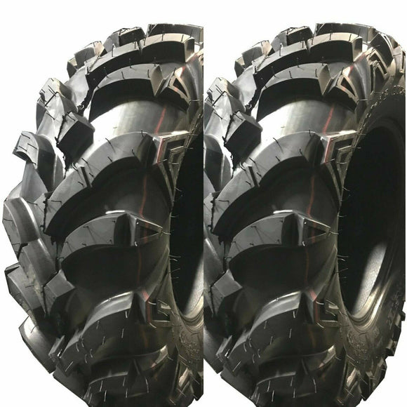 2 New Kingsville ATV UTV Tires 25x10-12 25x10x12 6PR Ultra Deep Tread Mud Tires