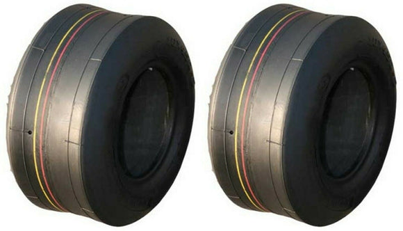 2 (TWO) 4.10/3.50-5 410/350-5 4PLY Rated Tubeless Smooth Tires 4.10-5 3.50-5