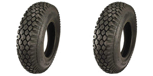 (2) TWO- NEW 4.10/3.50-4  4PLY STUD TUBELESS TIRES