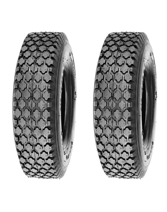 TWO 4.10/3.50-5 AIRLOC Stud Tread Tires 4 ply same as 4.10-5 Free Shipping