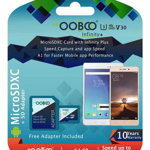 Ooboo 64 GB U3 Micro SDXC Memory Card Speed Up To 100 MB S With Adapt
