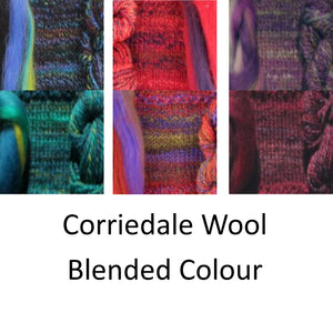 Corriedale Wool Blended Colour