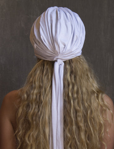 White Turban Scarf