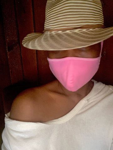 100% Cotton Light Pink Fashion Face Mask