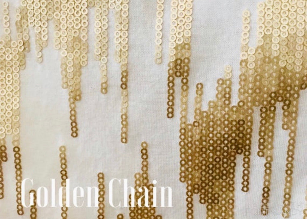 Golden Chain  Flat Sequin Fashion Face  Mask