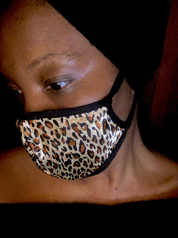 Satin Leopard Print Fashion  Face Mask