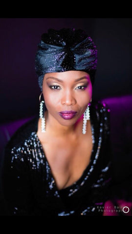 Black Velvet Galaxy Turban