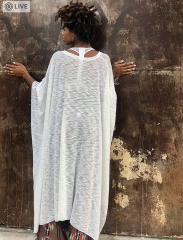 White Crochet Poncho (The Magical Poncho)