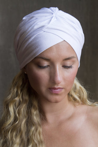 Solid White Turban Scarf (kundalini Favorite)