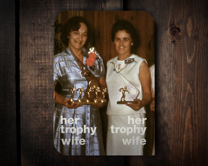 Two Trophies - a wedding congrats card