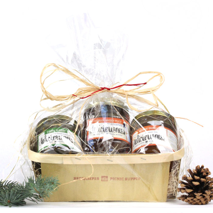 Orchard pack - 3 jars in a gift basket