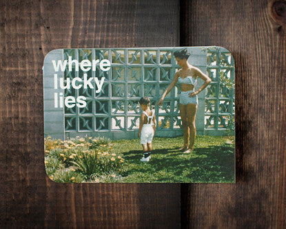 Where Lucky Lies - a blank card