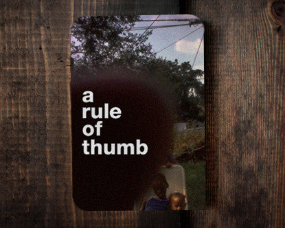 Rule of Thumb - a birthday card