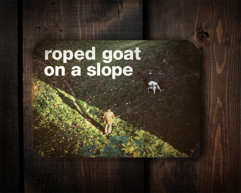 Goat Slope - a goaty birthday card
