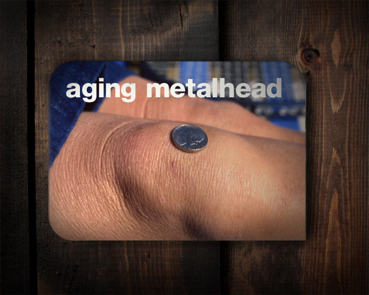 Aging Metal Head - a head bangin' birthday card