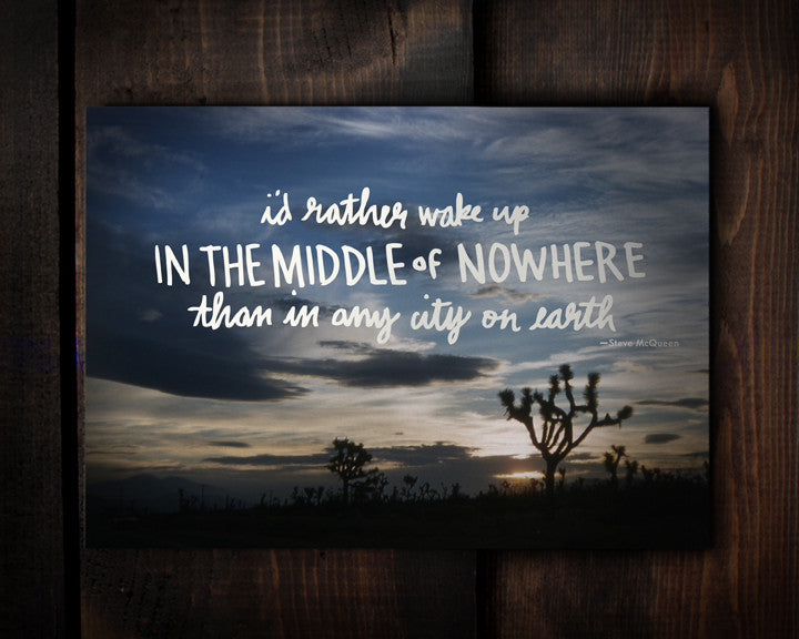 No Where - a postcard