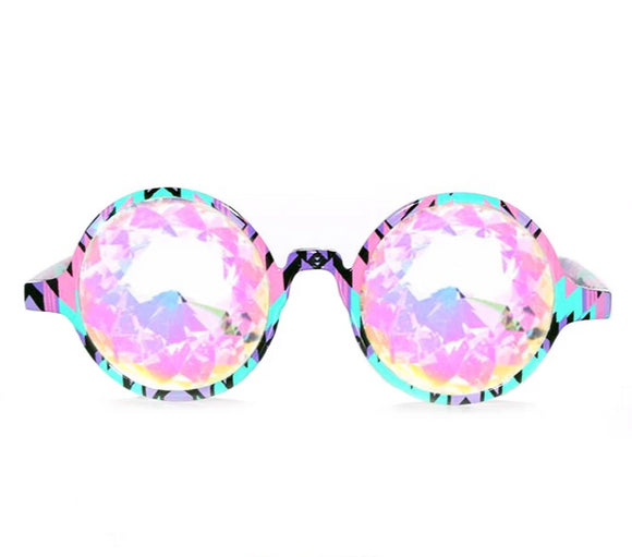 Aztec Kaleidoscope Glasses – Rainbow