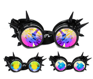 Black Spike Kaleidoscope Goggles