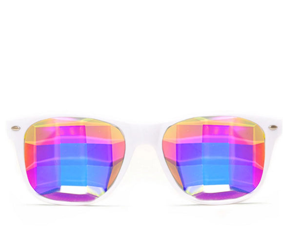 Bug Eye Ultimate Kaleidoscope Glasses – White