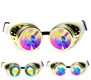 Royal Gold Kaleidoscope Goggles