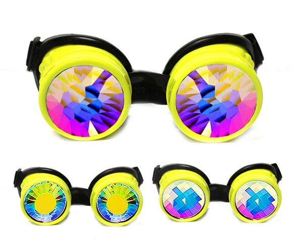 Yellow Kaleidoscope Goggles