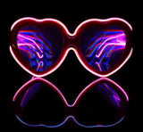 Customizable Heart Luminescence Diffraction Glasses