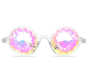 Clear Kaleidoscope Glasses- Rainbow