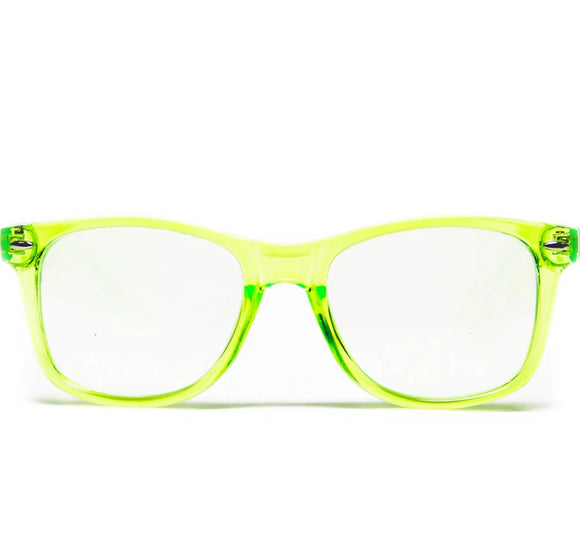 Diffraction Glasses – Transparent Green