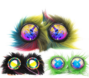 Furry Party Animal Kaleidoscope Goggles
