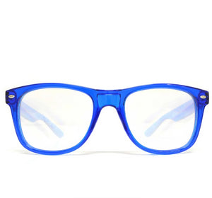 Ultimate Diffraction Glasses – Transparent Blue